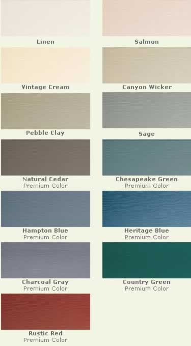 Vinyl Siding Colors Color Choices And Shades