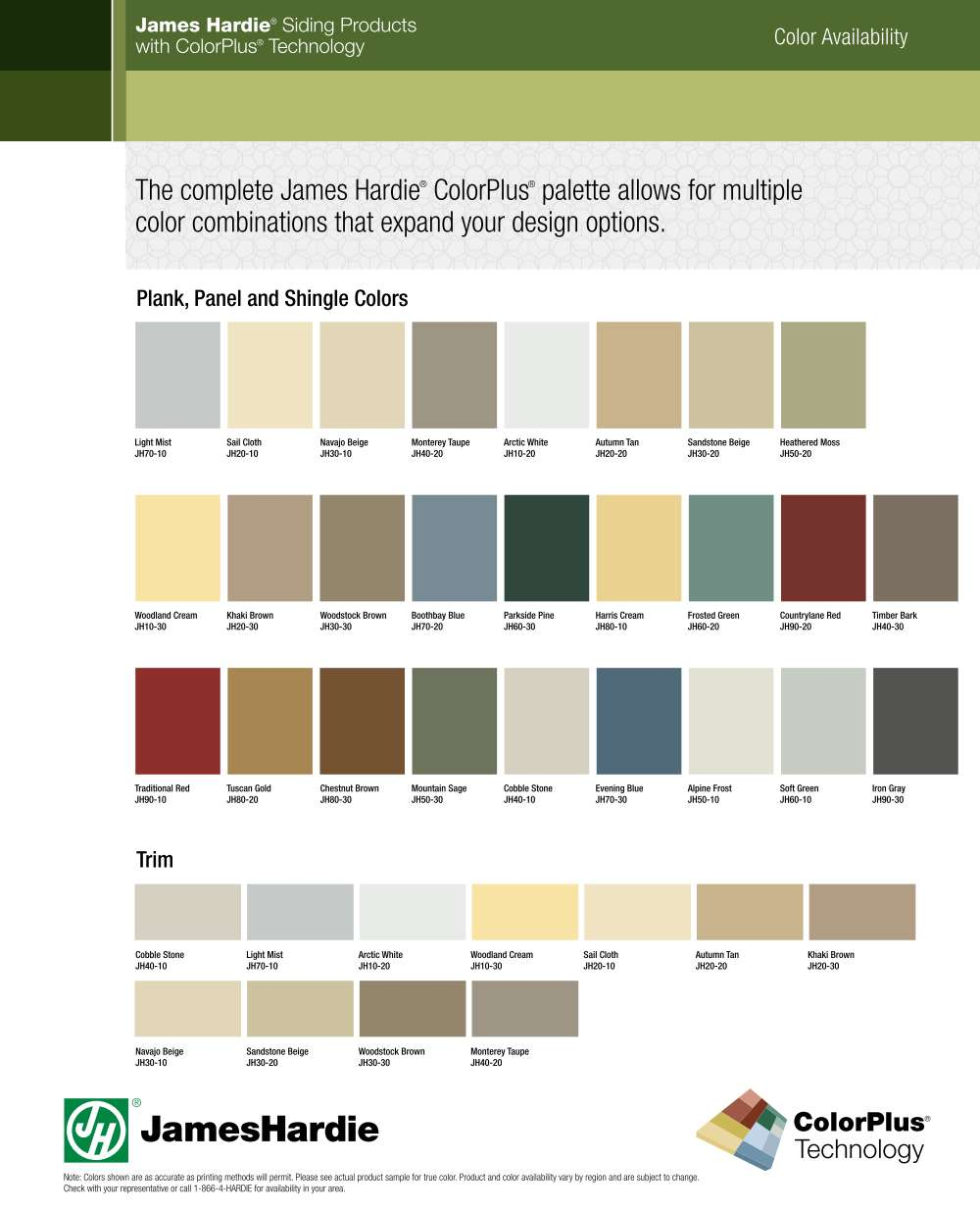 James Hardie ColorPlus Pallet